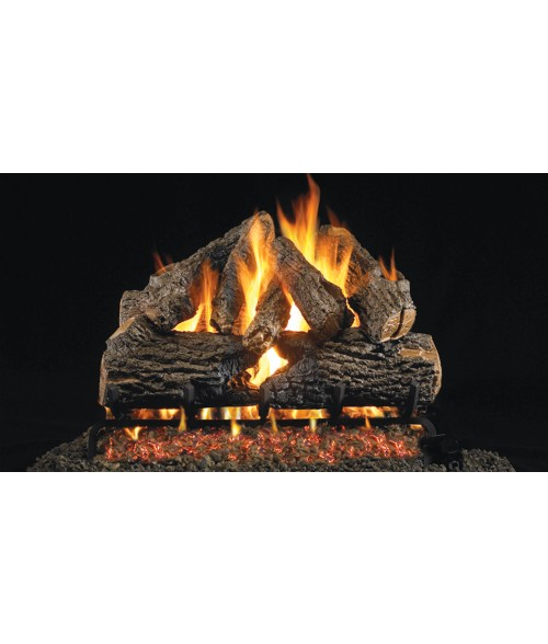 Peterson REAL FYRE Charred Oak OUTDOOR Vented Gas Log Set with Stainless Steel G45 Burner