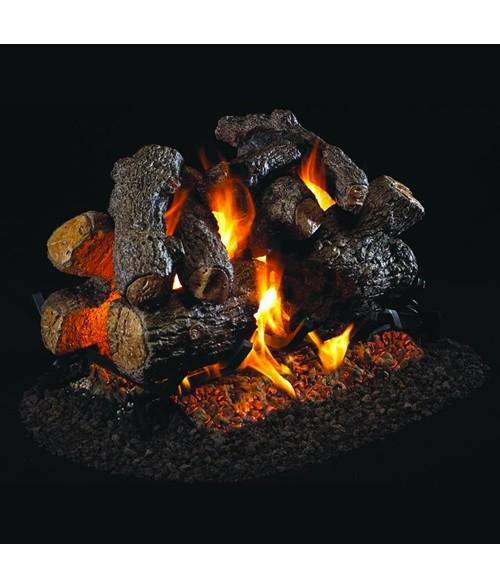 Peterson REAL FYRE Charred Royal English See Thru VENTED Gas Log Set with G45 Burner