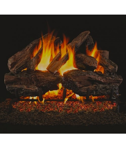 peterson real fyre charred red oak vented gas log sets with ansi certified g45 g46 - Real Fyre Gas Logs