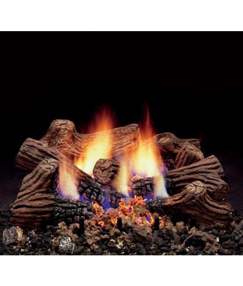Monessen Charred Timber Vent-Free Gas Log Set With Burner