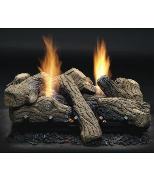 Monessen Natural Blaze Vent-Free See-Thru Gas Log Set with Burner