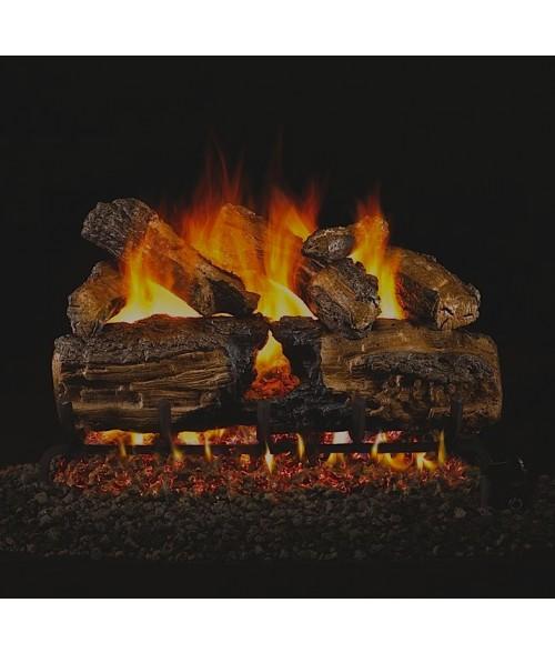 Peterson Burnt Split Oak Vented Gas Logs - FastFireplaces com