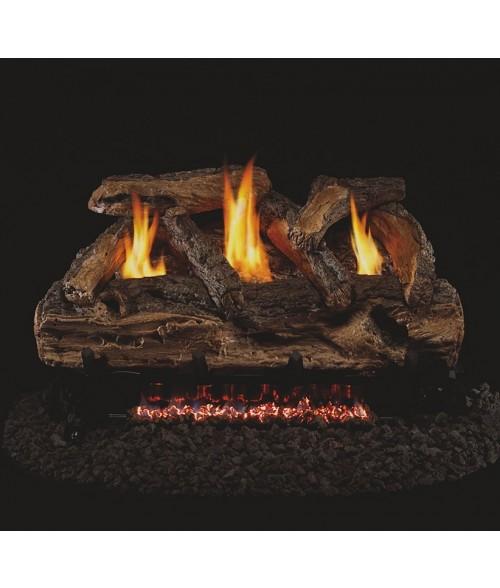 Peterson Real Fyre Split Oak Vent Free Gas Logs
