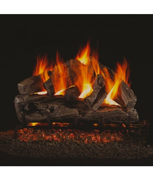 peterson real fyre rugged oak vented gas log set with ansi certified g45 g46 burner - Real Fyre Gas Logs