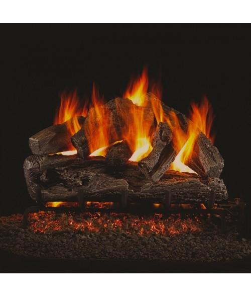 Peterson Real Fyre Rugged Oak Vented Gas Log Set With Ansi Certified G45 G46 Burner