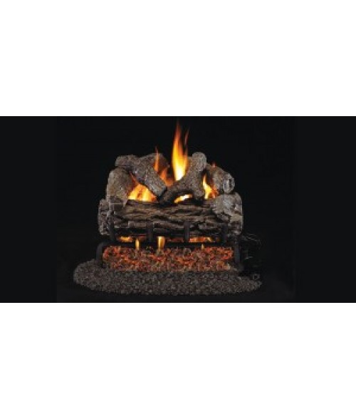Peterson REAL FYRE Golden Oak OUTDOOR Vented Gas Log Set with Stainless Steel G45 Burner