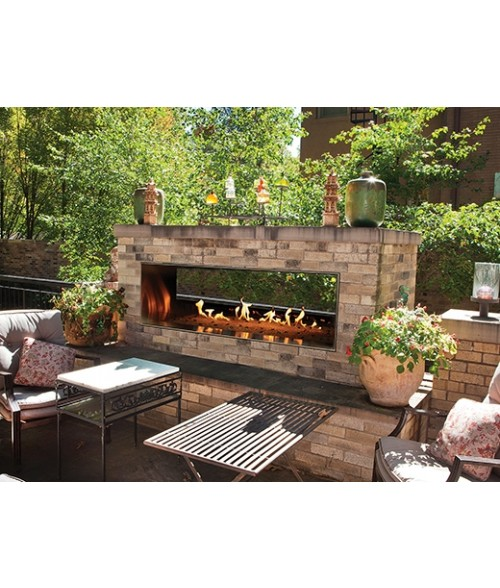 Empire Outdoor Vent Free See Thru Linear Fireplace 48 Quot Or