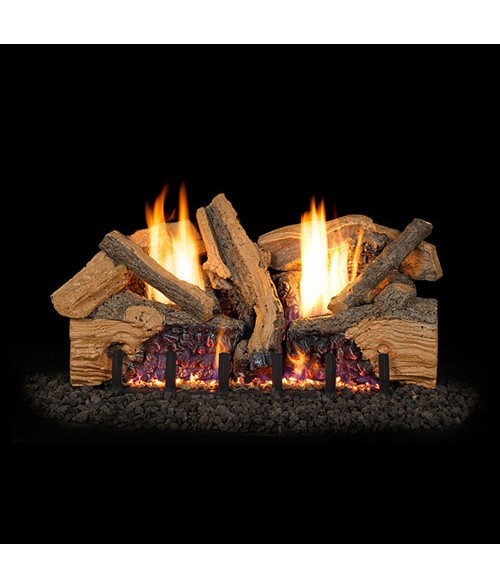 rh peterson real fyre g19 vent free foothill split oak gas log set - Real Fyre Gas Logs