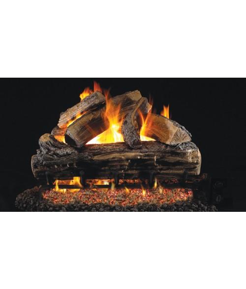 Peterson REAL FYRE Split Oak OUTDOOR Vented Gas Log Set with Stainless Steel G45 Burner