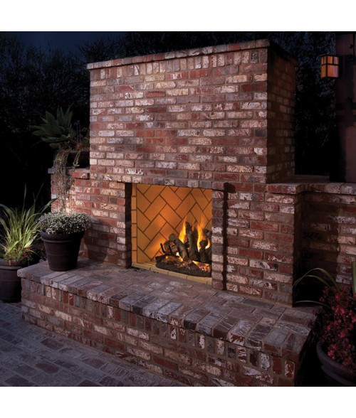 Outdoor Flood Light Burns Out Quickly: Superior VRE6000 Outdoor Masonry Vent-Free Gas Firebox (36