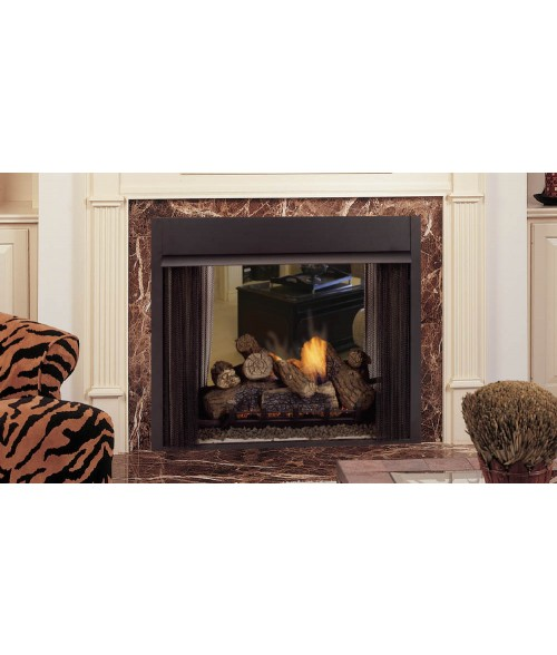 Monessen lo rider vent free designer see thru firebox 36 for Firerock fireplace prices