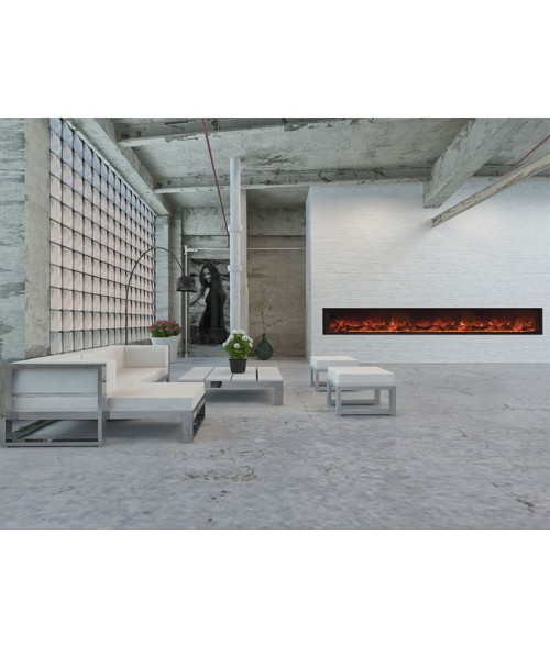 "Modern Flames Landscape Full-View 120""  Electric Fireplace"