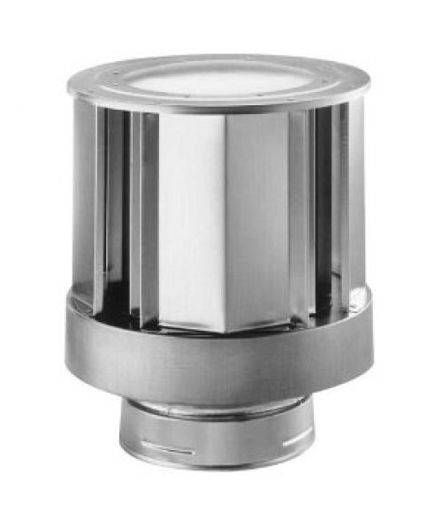 Empire Galvanized High-Wind Termination Cap (4 x 6 5/8)