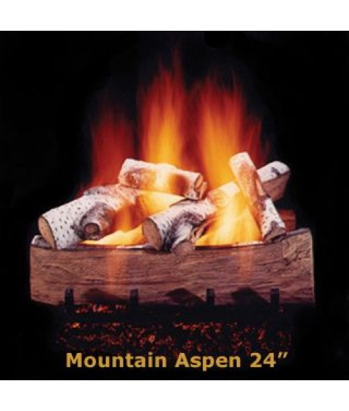 Hargrove Mountain Aspen Vented Gas Log Set with Burner