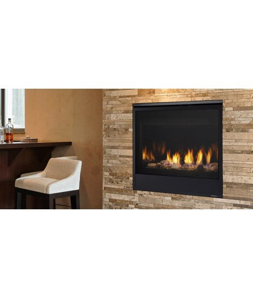 "Majestic Quartz Direct Vent Contemporary Gas Fireplace (32"" or 36"")"