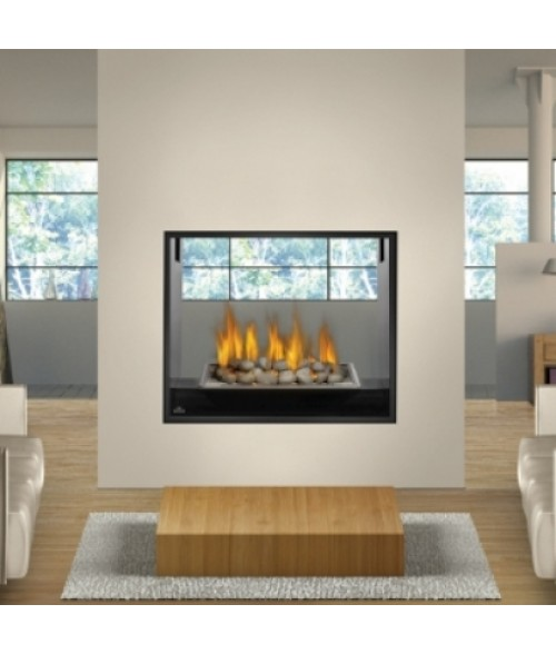 Gas fireplaces natural gas propane fastfireplaces napoleon hd81nt btu see thru direct vent zero clearance fireplace teraionfo