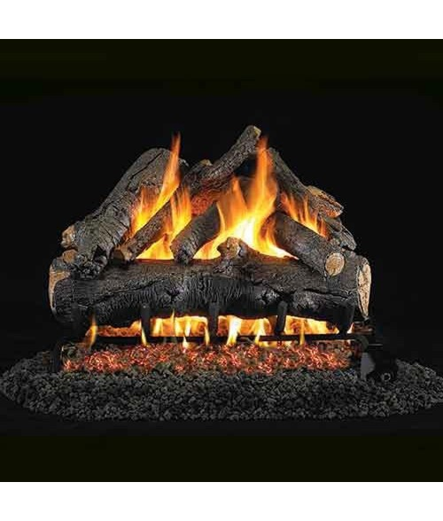 Peterson REAL FYRE American Oak OUTDOOR Vented Gas Log Set with Stainless Steel G45 Burner