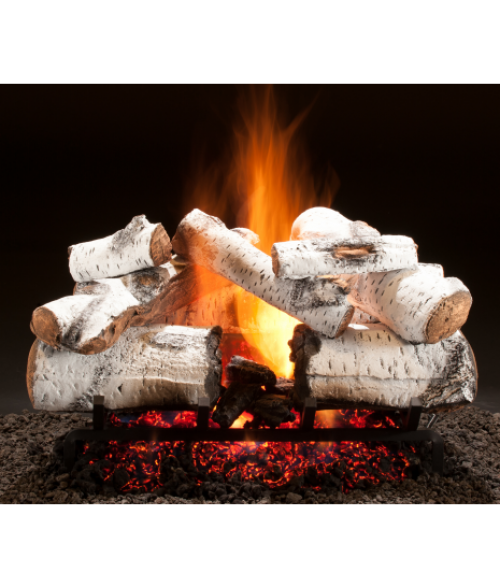 Hargrove Aspen Timbers Vented Gas Log Set with Radiant Heat Burner