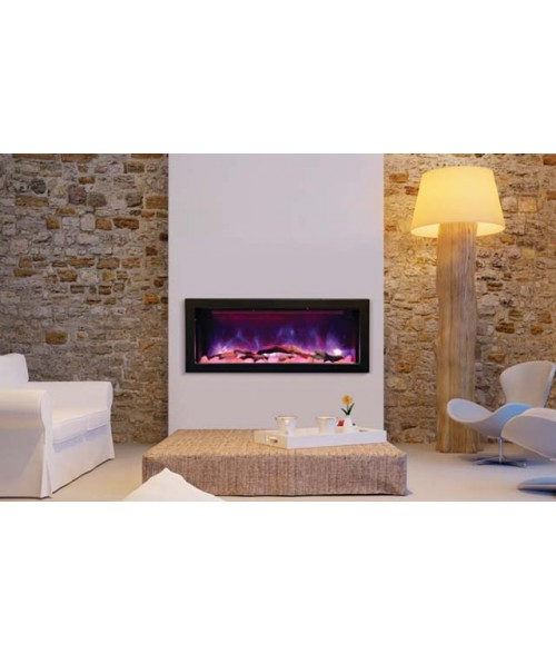 Amantii Panorama 40″ Deep Indoor or Outdoor Electric Fireplace