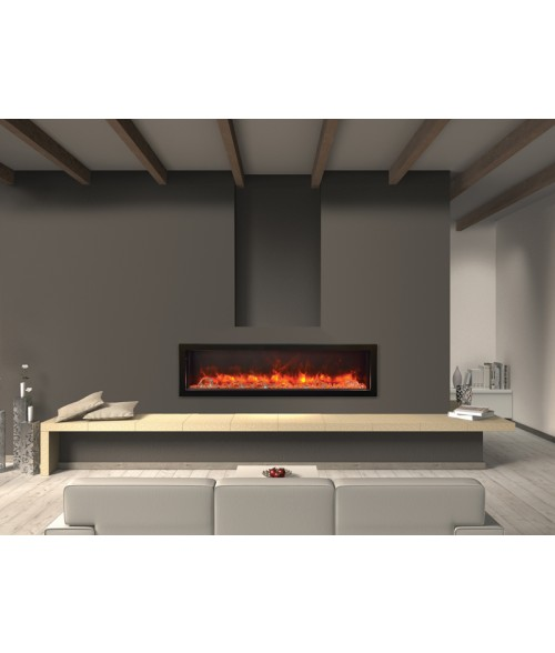 Amantii Panorama 60″ Deep Indoor or Outdoor Electric Fireplace