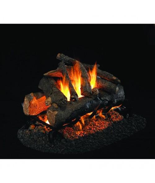 Peterson REAL FYRE American Oak See-Thru Vented Gas Log Set with ANSI-Certified G45 Burner