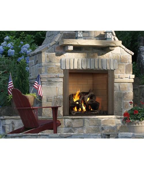 """Majestic Castlewood 42"""" Masonry Outdoor Wood Burning Fireplace"""