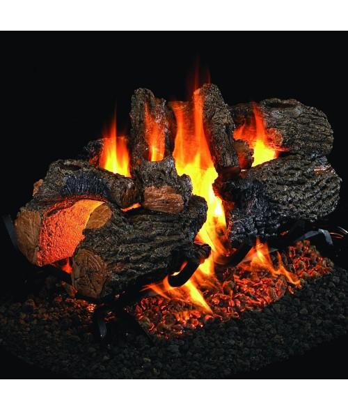 Peterson REAL FYRE Charred Oak See Thru VENTED Gas Log Set with G45 Burner