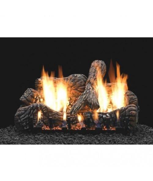 Empire CHARRED OAK  Gas Log Set With VENTED Slope Glaze Burner