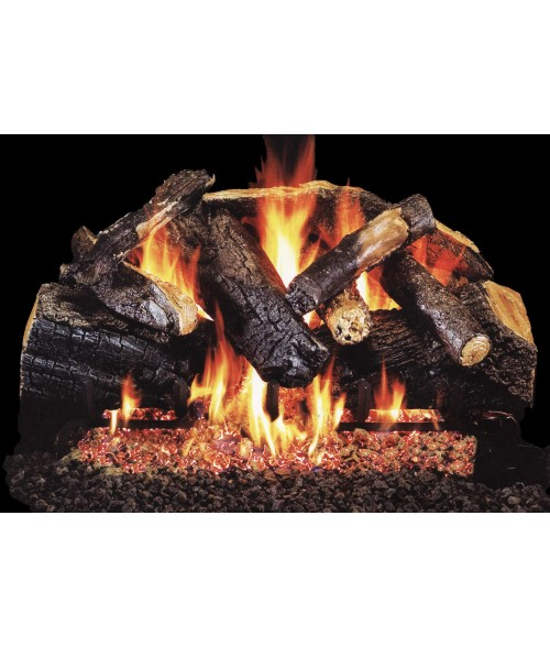 Peterson REAL FYRE Charred Majestic Vented Gas Log Set with ANSI-Certified G45 Burner
