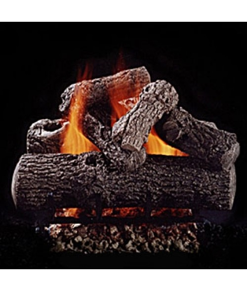 Hargrove Classic Oak Vented Gas Log Set with Burner