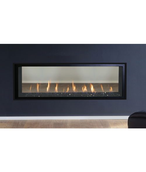 Superior DRL4084 Direct-vent See-Thru Liner Fireplace - 84""