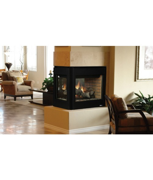 "Superior DRT40PF Direct Vent Peninsula Fireplace (40"")"