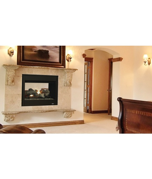 "Superior DRT35ST Direct Vent See-Thru Gas Fireplace System (35"")"