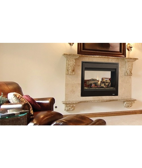 "Superior DRT40ST Direct Vent See-Thru Gas Fireplace System (40"")"