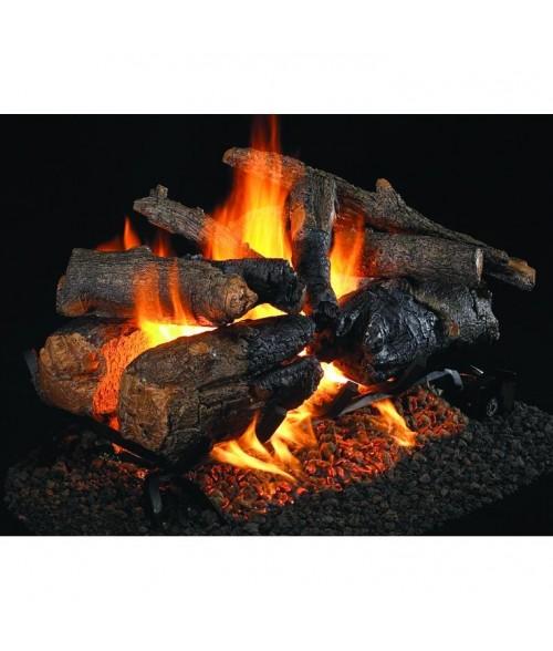 Peterson REAL FYRE Charred American Oak See-Thru Vented Gas Log Set with ANSI-Certified G45 Burner