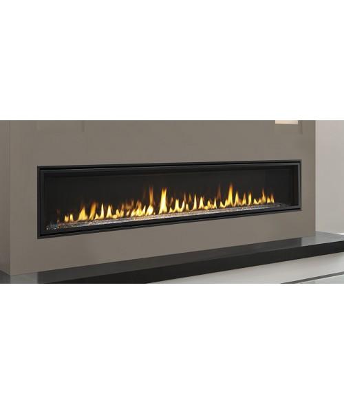 "Majestic Echelon II 60"" Direct Vent Linear Gas Fireplace"