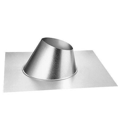 Empire Galvanized Adjustable Roof Flashing 7/12-12/12  (4 x 6 5/8)