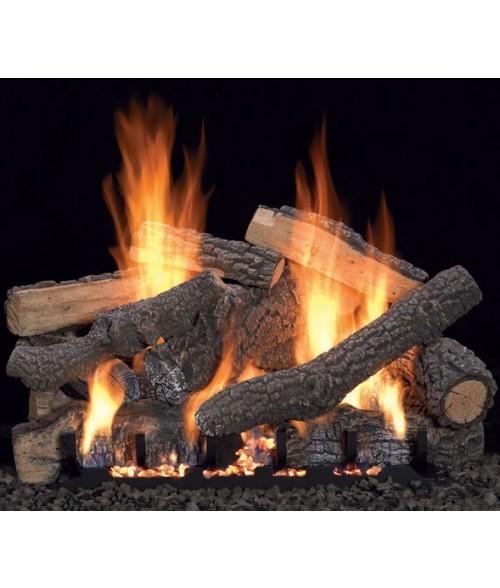 Empire PONDEROSA  Gas Log Set With VENTED Slope Glaze Burner