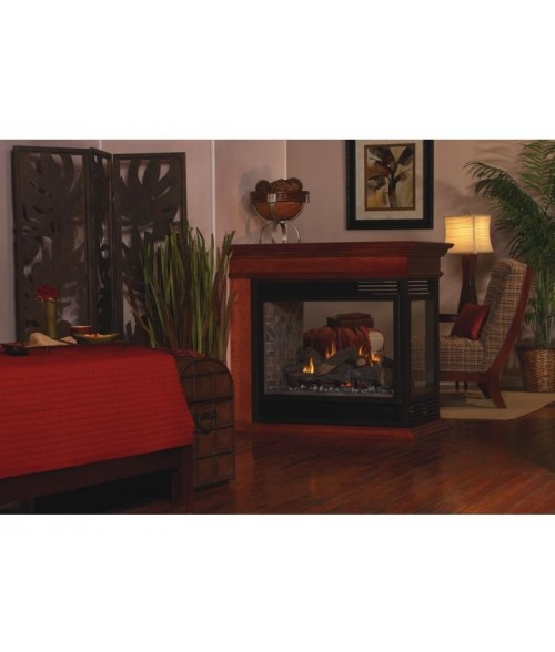 "Empire 36"" Tahoe Direct Vent Penisula Fireplace with Logs"