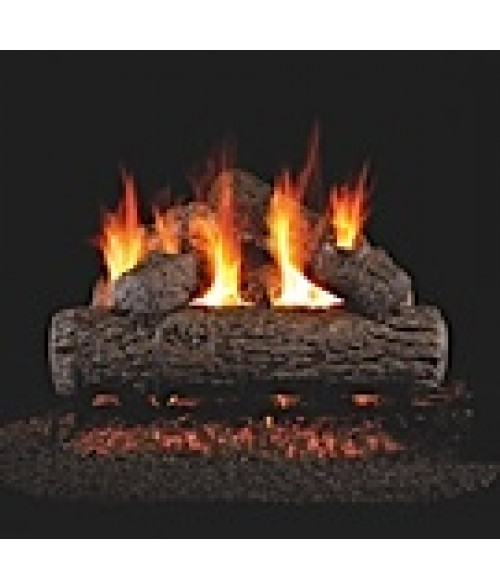 Peterson REAL FYRE Golden Oak Vented Gas Log Set with ANSI-Certified G45 G46 Burner