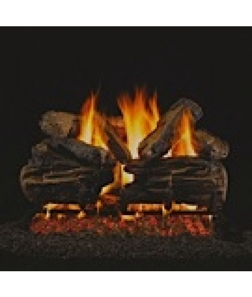 Peterson REAL FYRE Charred Split Vented Gas Log Set with ANSI-Certified G45 G46 Burner