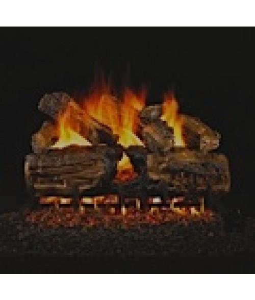 Peterson REAL FYRE Burnt Split Oak Vented Gas Log Set with ANSI-Certified G46 Burner