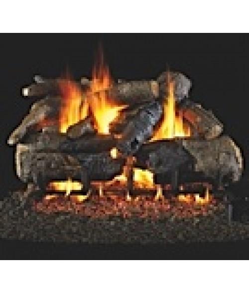 Peterson REAL FYRE Charred American Oak Vented Gas Log Set with ANSI-Certified G45 G46 Burner