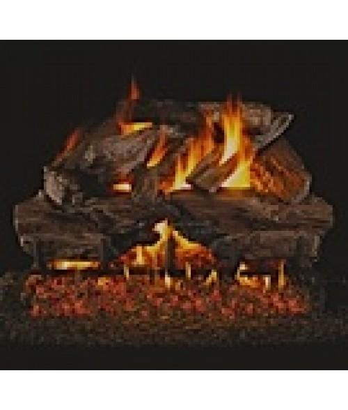 Peterson REAL FYRE Charred Cedar Vented Gas Log Set with ANSI-Certified G45 G46 Burner