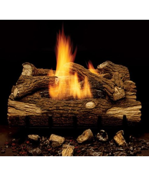monessen mountain oak ventfree gas log set with burner