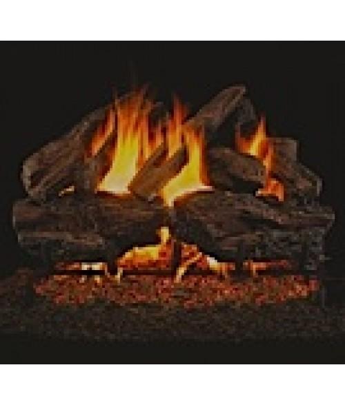 Peterson REAL FYRE Charred Red Oak Vented Gas Log Sets with ANSI-Certified G45 G46 Burner