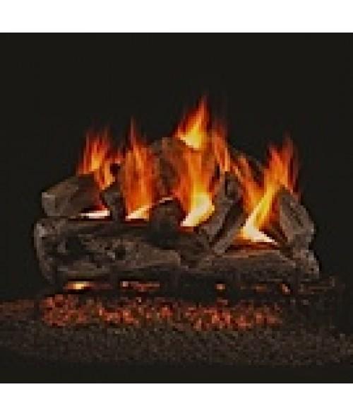 Peterson REAL FYRE Rugged Oak Vented Gas Log Set with ANSI-Certified G45 G46 Burner