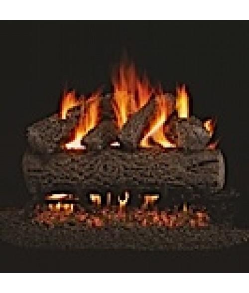 Peterson REAL FYRE Post Oak Vented Gas Log Set with ANSI-Certified G45 G46 Burner