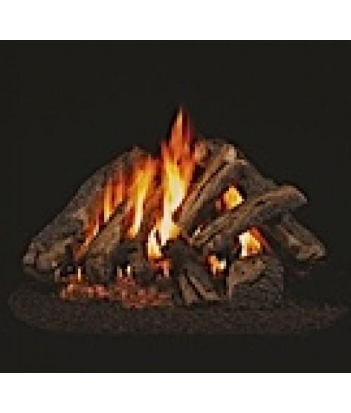 Peterson REAL FYRE Western Campfyre Vented Gas Log Set with ANSI-Certified G45 G46 Burner