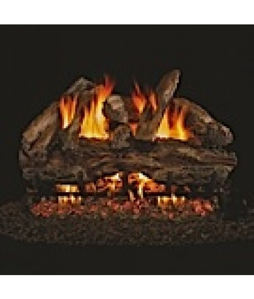Peterson REAL FYRE Red Oak Vented Gas Log Set with ANSI-Certified G45 G46 Burner